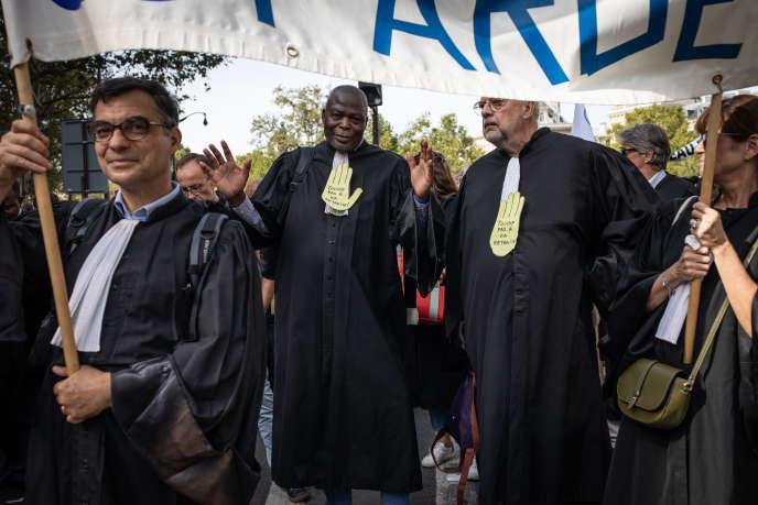 Manifestation contre la réforme des retraites, le 16 septembre à Paris.