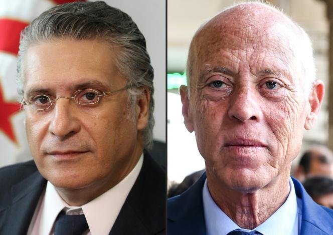 Nabil Karoui et Kaïs Saïed s'affronteront au second tour de la présidentielle tunisienne, le 6 ou le 13 octobre.