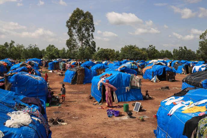 Le site de déplacés de Sénou, dans la périphérie de la capitale malienne Bamako, en septembre 2019.
