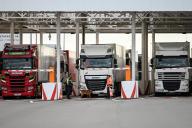 Des poids lourds à Calais, le 17 septembre.