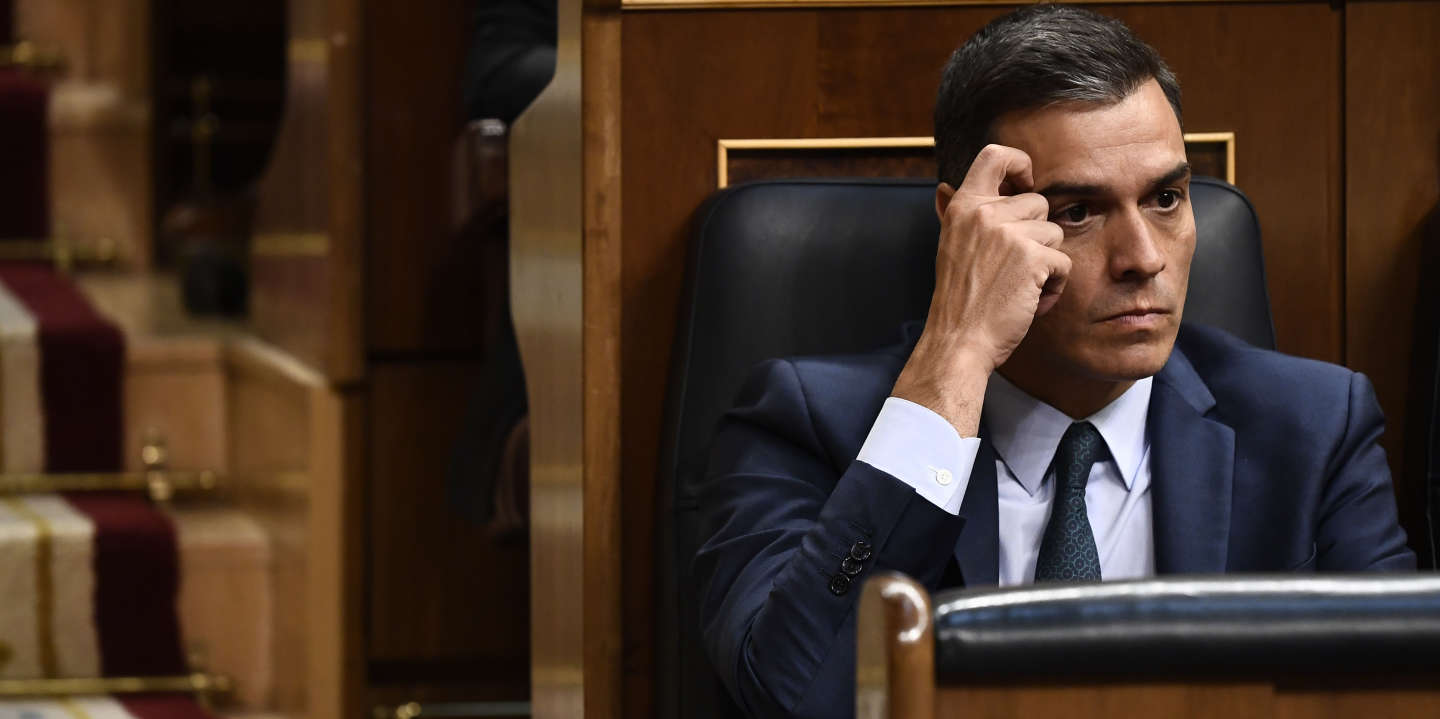 (FILES) In this file photo taken on July 25, 2019 Spanish caretaker Prime Minister Pedro Sanchez attends the third day of a parliamentary investiture debate and vote to elect a premier, at the Spanish Congress (Las Cortes) on July 25, 2019, in Madrid. Prime Minister Pedro Sanchez said on September 17, 2019 that Spain is