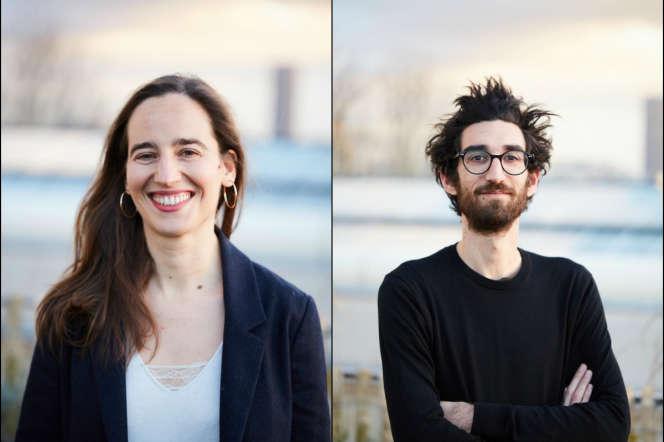Claire Moulène et Yoann Gourmel, deux des sept commissaires délégués du Palais de Tokyo, à Paris, pour la Biennale de Lyon.