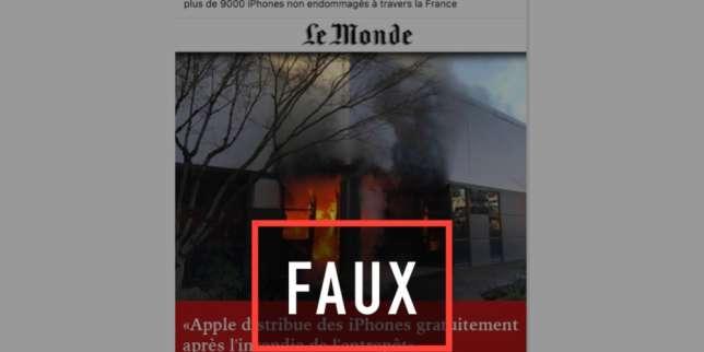 De fausses pages Facebook et faux sites «Le Monde» diffusent une arnaque aux iPhones gratuits