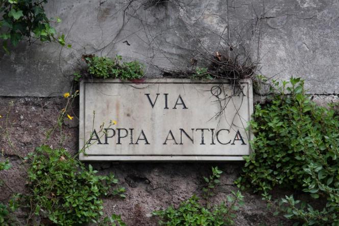 Sur la via Appia.
