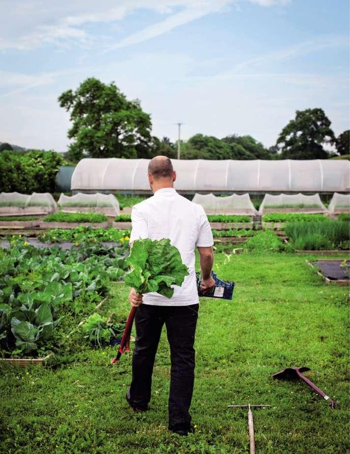 Comme de nombreux chefs étoilés, Simon Rogan, au Royaume-Uni, cultive son potager en marge de son restaurant.
