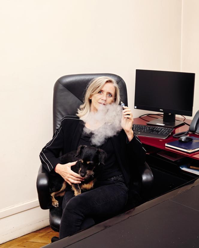 Nathalie Carrère dans son bureau à Paris, le 13septembre 2019.