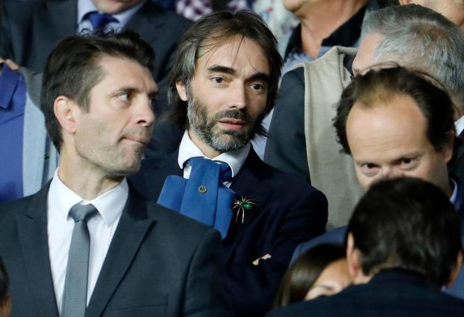 Cédric Villani lors du match de Ligue des champios entre le Paris Saint-Germain et le Real Madrid, à Paris, le 18septembre.