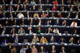 Les parlementaires européens votent une résolution sur le Brexit, le 18 septembre.