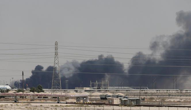 Sur le site d'Abqaïq, le 14 septembre.