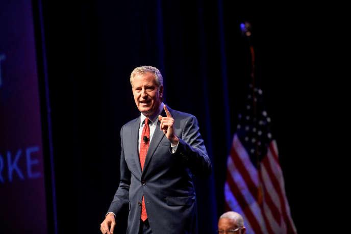 Bill de Blasio lors d'un discours à Philadelphie, le 17 septembre.