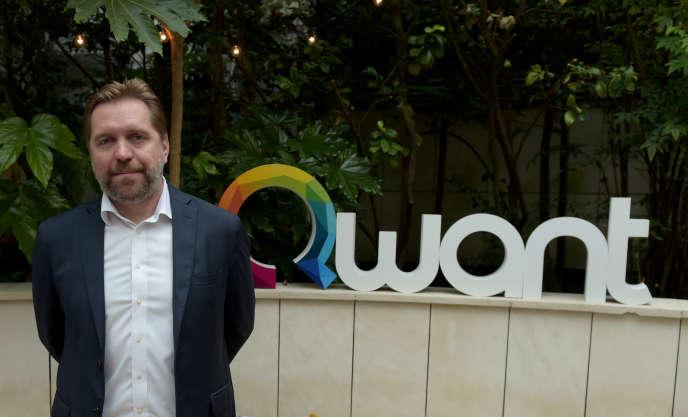 Eric Léandri, le patron du moteur de recherche français Qwant, à Paris, en juin 2018.