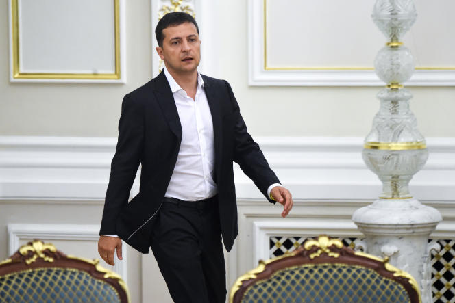 Le président ukrainien Volodymyr Zelensky, le 2 septembre à Kiev.