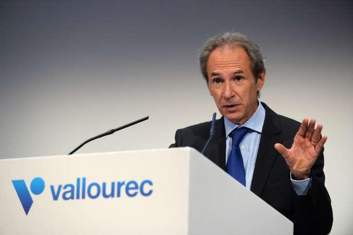 Philippe Crouzet, président du directoire de Vallourec, le 12 mai 2017, à Paris.