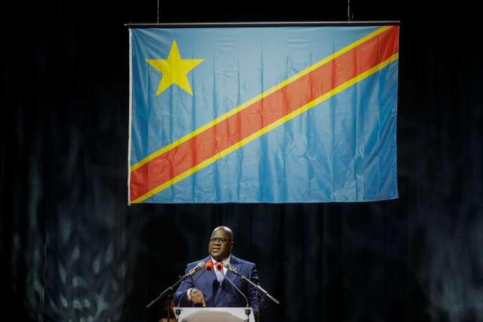 Le président congolais, Félix Tshisekedi, à Bruxelles, le 18 septembre.