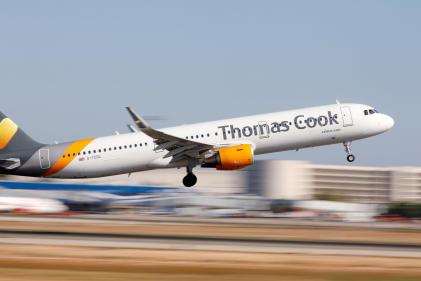 Un avion de Thomas Cook, à Palma de Majorque (Espagne), en 2018.