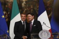 Emmanuel Macron et Giuseppe Conte ont donné une conférence de presse au palais Chigi à Rome, mercredi 18 septembre.
