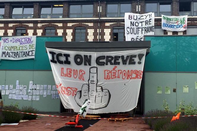 Grève au centre hospitalier du Rouvray (Côte-d'Or), le 16 septembre.