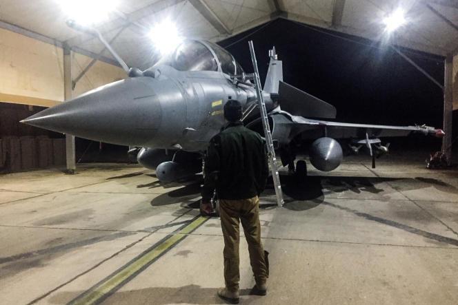 Un Rafale sur la base Prince-Hassan, en Jordanie, le 31 décembre 2018.