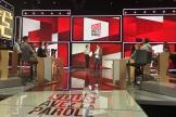 Léa Salamé et Thomas Sotto (au centre) répètent avant le premier numéro de «Vous avez la parole», le 18septembre.