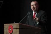Discours du président turc Recep Tayyip Erdogan au palais présidentiel, à Ankara, le 18 septembre.