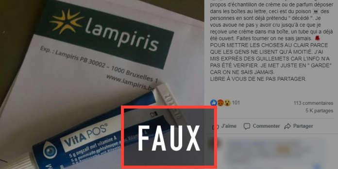La rumeur tenace des échantillons empoisonnés dans les boîtes aux lettres