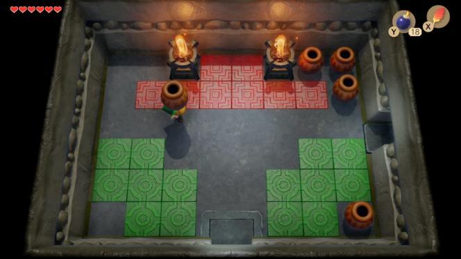 «Le Temple des couleurs», bonus de la version DX sur Game Boy Color, est de la partie.