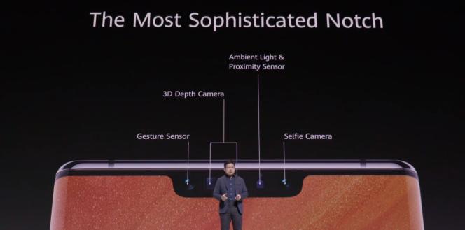 Le Mate 30 peut scanner le visage en trois dimensions pour reconnaître son propriétaire, comme l'iPhone.