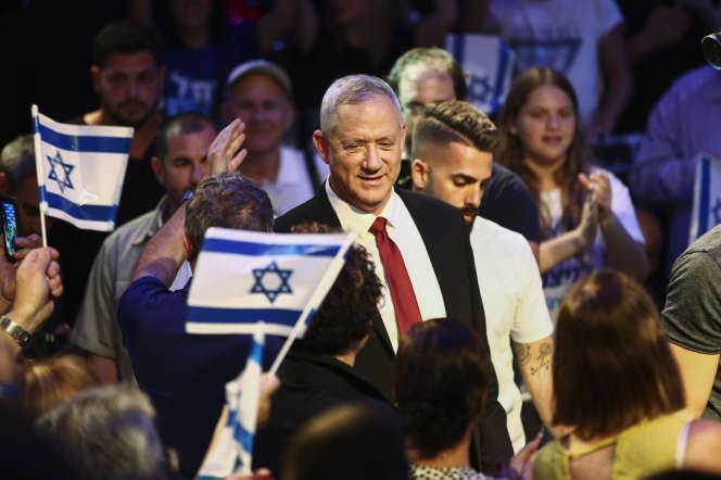 Le général Benny Gantz, chef de file du mouvement Bleu Blanc, le 15 septembre, à Tel-Aviv.