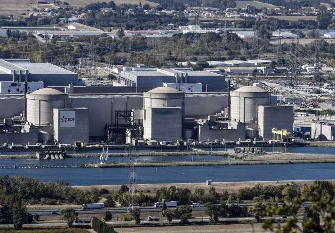 La centrale nucléaire du Tricastin, située à cheval entre la Drôme et le Vaucluse, en octobre 2017.
