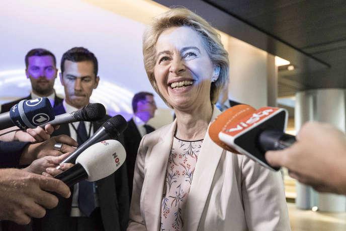 La présidente de la Commission européenne, Ursula von der Leyen, au Parlement de Strasbourg, le19 septembre.