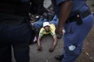 A Johannesburg durant la vague de violences xénophobes qui a frappé l'Afrique du Sud début septembre 2019.