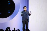 Richard Yu, le PDG de Huawei, lors de la présentation du Mate 30 à Munich (Allemagne), le 19 septembre.