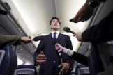 Justin Trudeau s'est exprimé, mercredi 18 septembre, dans son avion.