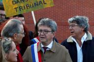 Jean-Luc Mélenchon arrive à son procès, le 19septembre, à Bobigny.