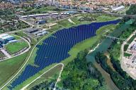 Vue de la future centrale photovoltaïque, qui devrait être mise en service au printemps 2020.