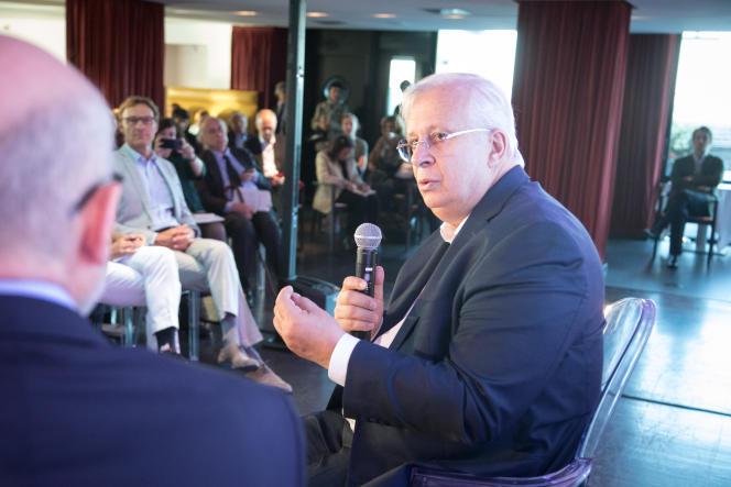 Jacques Ashenbroich, le PDG de l'équipementier Valeo, lors du Club de l'économie, jeudi 19 septembre, à Paris.