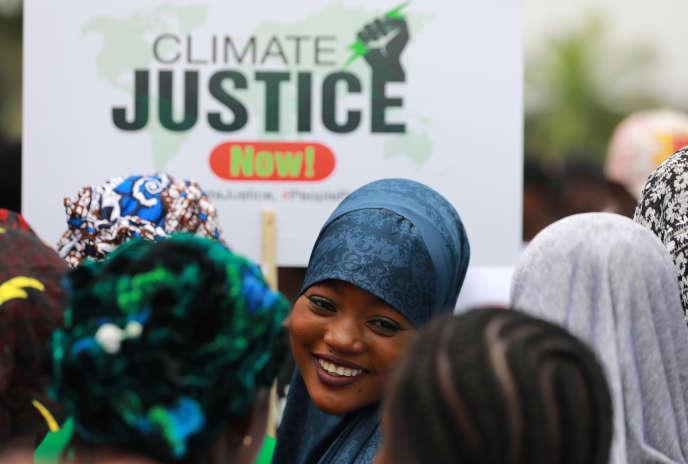 Mobilisation pour le climat à Abuja, au NIgeria, le 20 septembre 2019.