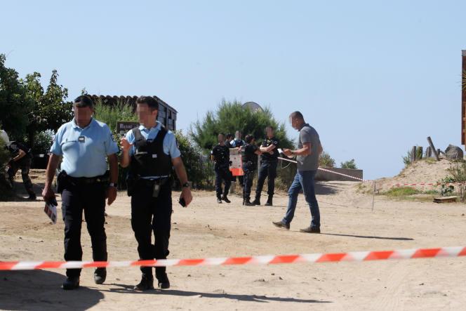 Après l'assassinat de Maxime Susini, un militant nationaliste et exploitant d'une paillotte, le 12 septembre, à Cargèse (Corse-du-Sud).