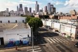 Skid Row, un quartier du centre de Los Angeles (Californie) où se réfugient de nombreux sans-abri, le 16 septembre.