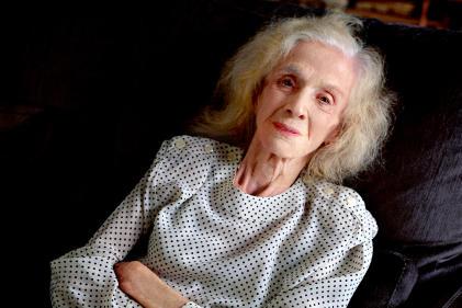 Gisèle Halimi, chez elle, à Paris, le 18 septembre.