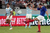 A la fin du match contre l'Argentine, samedi, Camille Lopez célèbre la victoire de l'équipe de France.