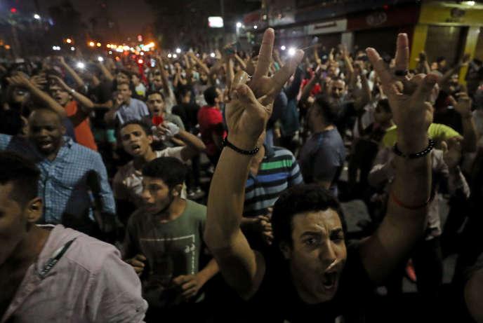 Manifestation dans le centre-ville du Caire, le 21 septembre.