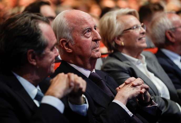 Edouard Balladur lors d'un événement de campagne du parti Les Républicains, à Paris, le 15 mai.