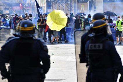 Mobilisation des « gilets jaunes» à Montpellier, le 7 septembre.