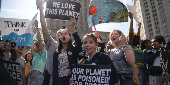 A New York, les jeunes se mobilisent massivement pour conjurer la peur de la crise climatique