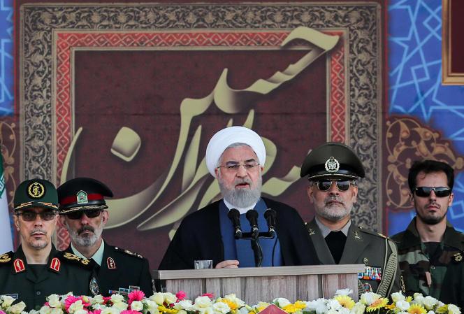 Le président iranien Hassan Rohani, à l'ouverture d'un défilé militaire à Téhéran dimanche 22 septembre 2019.