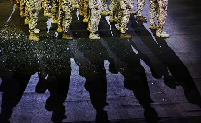 Des soldats saoudiens à Riyad, le 21 septembre.