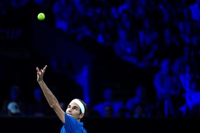 Roger Federer lors de la Laver Cup, à Genève, le 22 septembre.