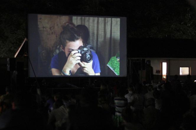 Lors de la projection à Bangui du film« Camille», le 21septembre 2019.