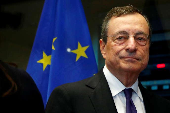 Mario Draghi, le président sortant de la Banque centrale européenne, à Bruxelles, le 23 septembre.